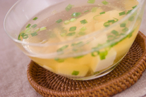 冷製豆腐と長芋のスープ