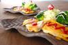 薄切り餅ピカタの作り方の手順