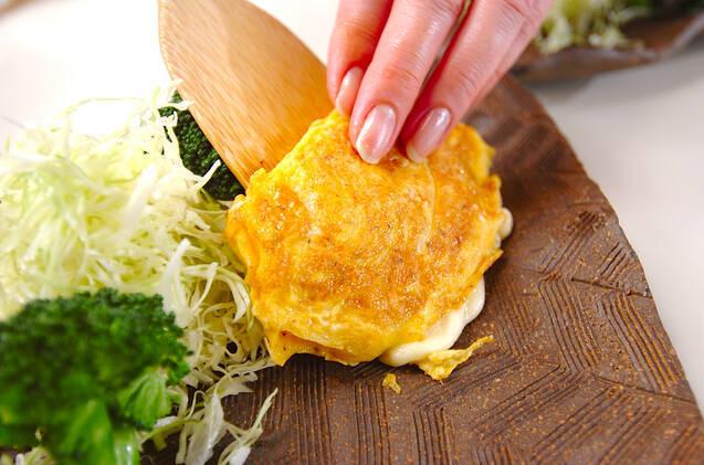 薄切り餅ピカタの作り方の手順6