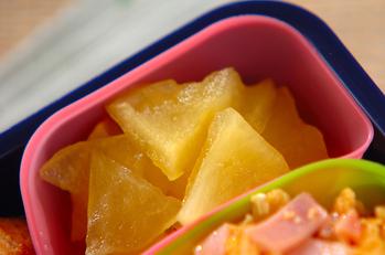 リンゴのレンジ甘煮