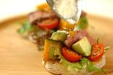 特製ソースdeローストビーフと野菜のオープンサンド♪の作り方2