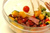 特製ソースdeローストビーフと野菜のオープンサンド♪の作り方1
