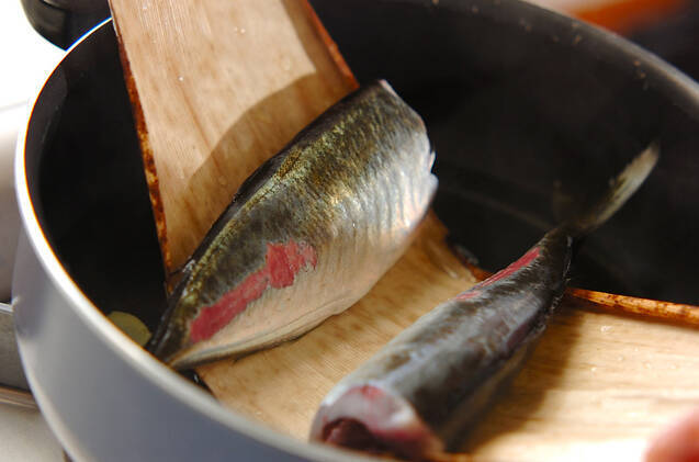 アジとニラの煮付けの作り方の手順6