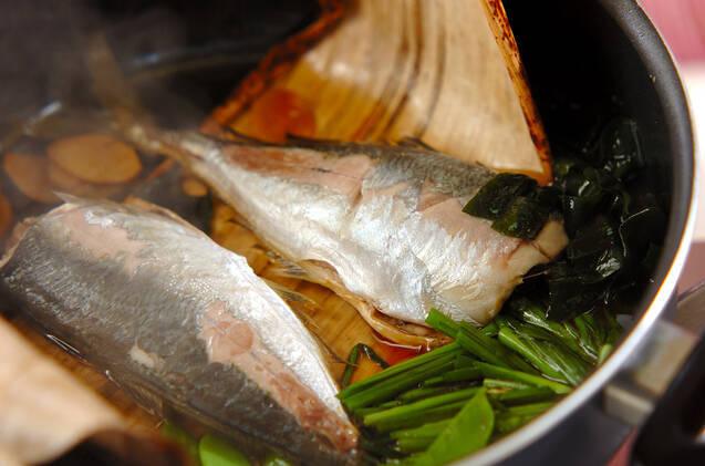 アジとニラの煮付けの作り方の手順9