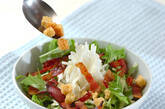水菜と長芋のサラダの作り方2