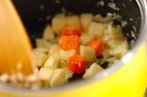 モロヘイヤとニンニクのスープの作り方4