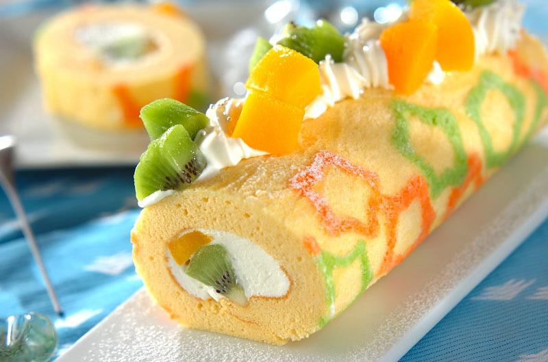 七夕のロールケーキ