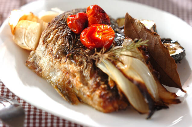 イサキと野菜のオーブン焼き
