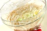 レンジモヤシのそぼろ納豆ソースの作り方3