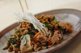 豚肉と納豆の炒め物の作り方8