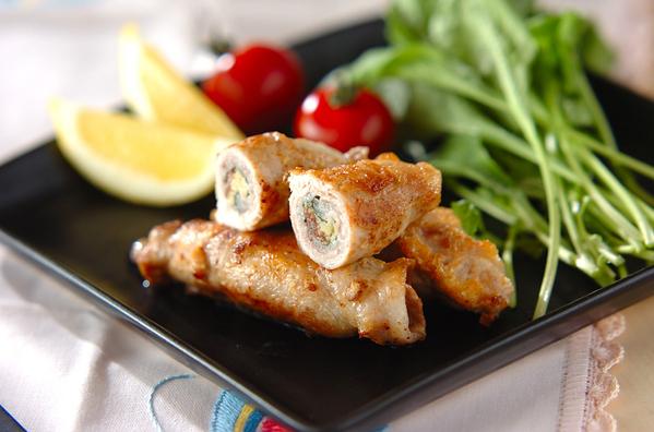 1. 豚肉のチーズロール