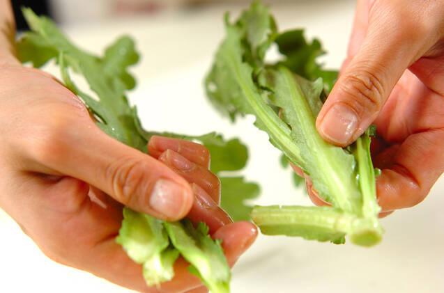 鯛のお刺身サラダの作り方の手順1