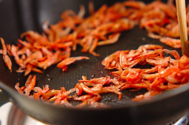 大豆と干し桜エビの煮物の作り方の手順2