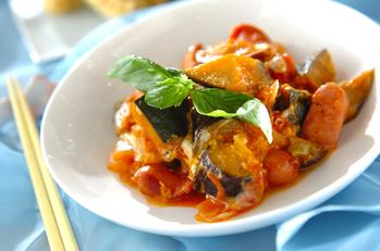 トロトロ卵入り夏野菜のトマト煮