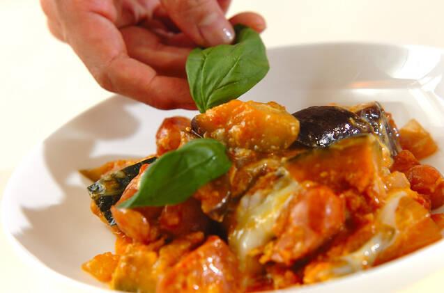 トロトロ卵入り夏野菜のトマト煮の作り方の手順8