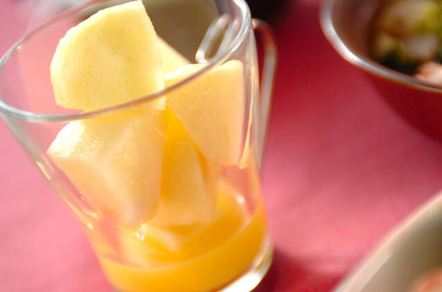 リンゴのオレンジ風味