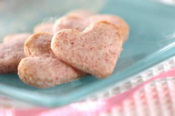 イチゴミルクのクッキー