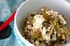 高菜の豆腐和えの作り方の手順