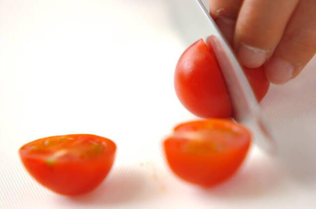 トマトとナメタケの変わり奴の作り方の手順1