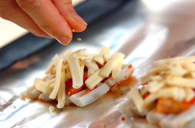 ちくわキムチピザの作り方の手順2