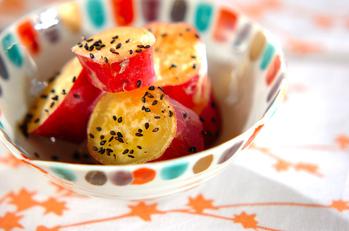 サツマイモのピーナッツバター煮