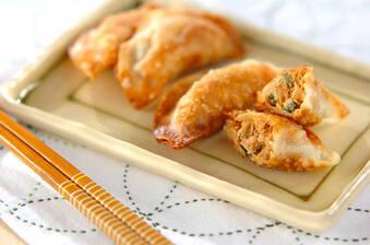 ツナと大葉の揚げ焼き餃子