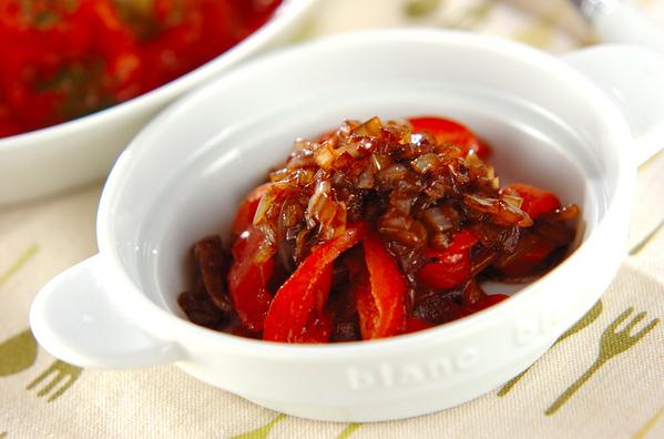 2.パプリカのバルサミコ酢マリネ