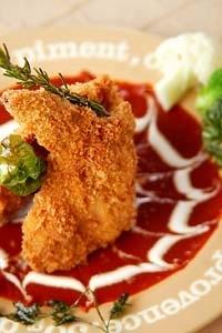 チキン・赤みそソース