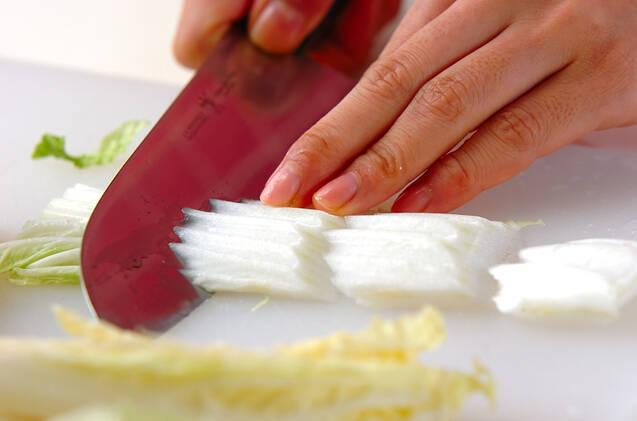 レンジ白菜の作り方の手順1