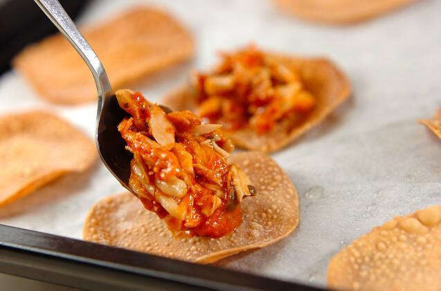 キノコのミニピザの作り方の手順6
