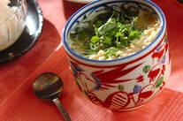 エノキとワカメの茶碗蒸し