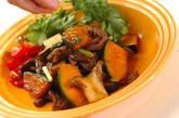 牛肉とカボチャのピリ辛炒めの作り方12