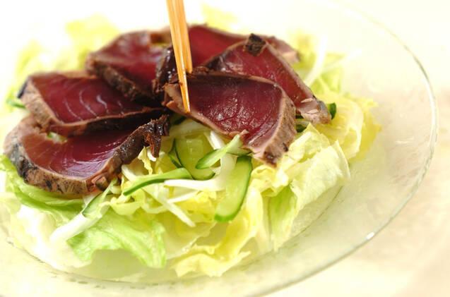 サラダ仕立てカツオのたたきの作り方の手順8