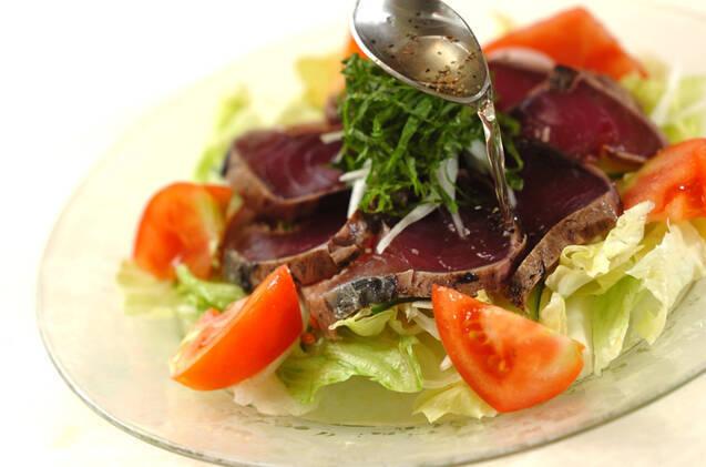 サラダ仕立てカツオのたたきの作り方の手順9