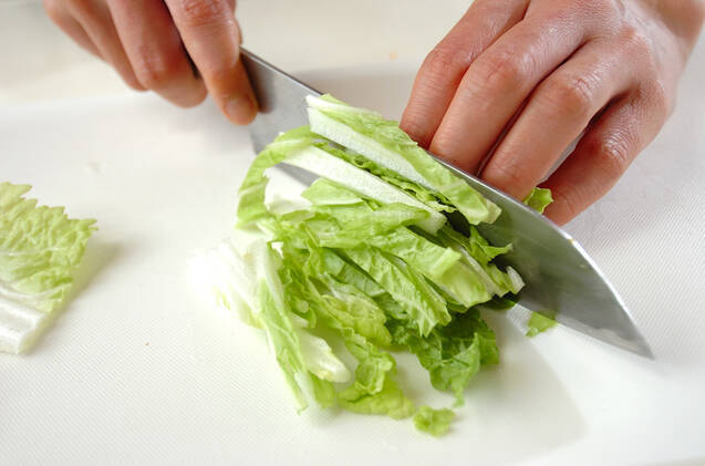 白菜のユズポン和えの作り方の手順1
