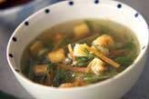 水菜の中華風スープ