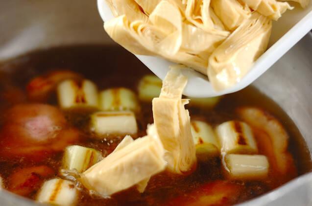 鴨と湯葉のあんかけ丼の作り方の手順8