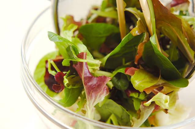 ベビーリーフのサラダの作り方の手順5