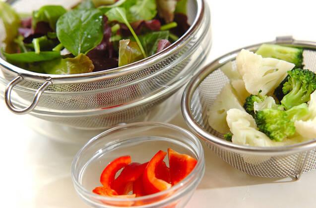 ベビーリーフのサラダの作り方の手順1