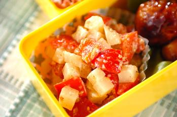 パプリカとジャガイモのゴママヨサラダ