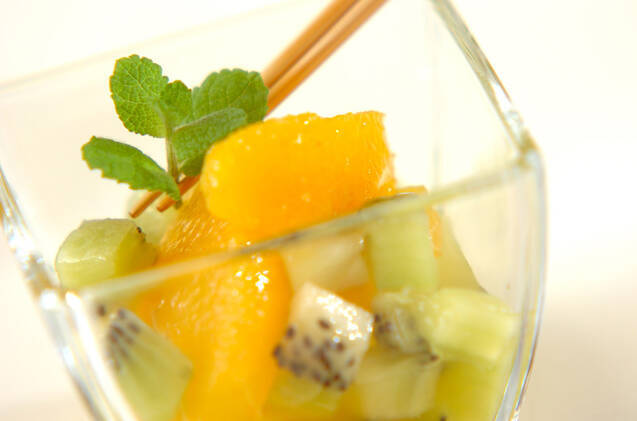 オレンジとキウイのマチェドニアの作り方の手順4