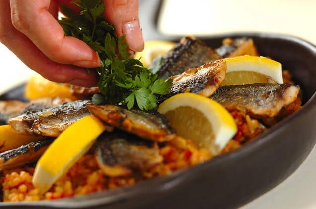 サンマのパエリア風炊き込みご飯の作り方の手順8