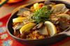 サンマのパエリア風炊き込みご飯