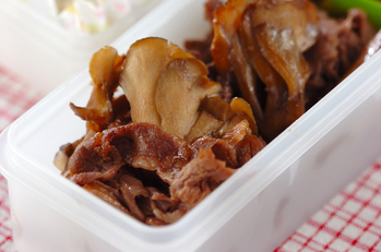 牛肉とマイタケのしぐれ煮