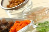 豚肉入り大豆の煮物の下準備1