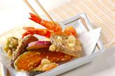 天ぷら盛り合わせの作り方2
