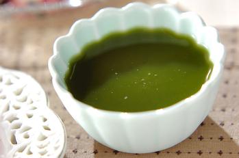 甘納豆の抹茶ゼリー