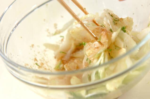セロリのゴマ酢和えの作り方の手順4