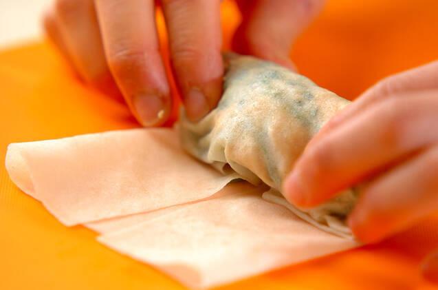 ささ身とヨーグルトソースのヘルシー春巻きの作り方の手順4