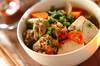 肉団子と野菜の煮物の作り方の手順